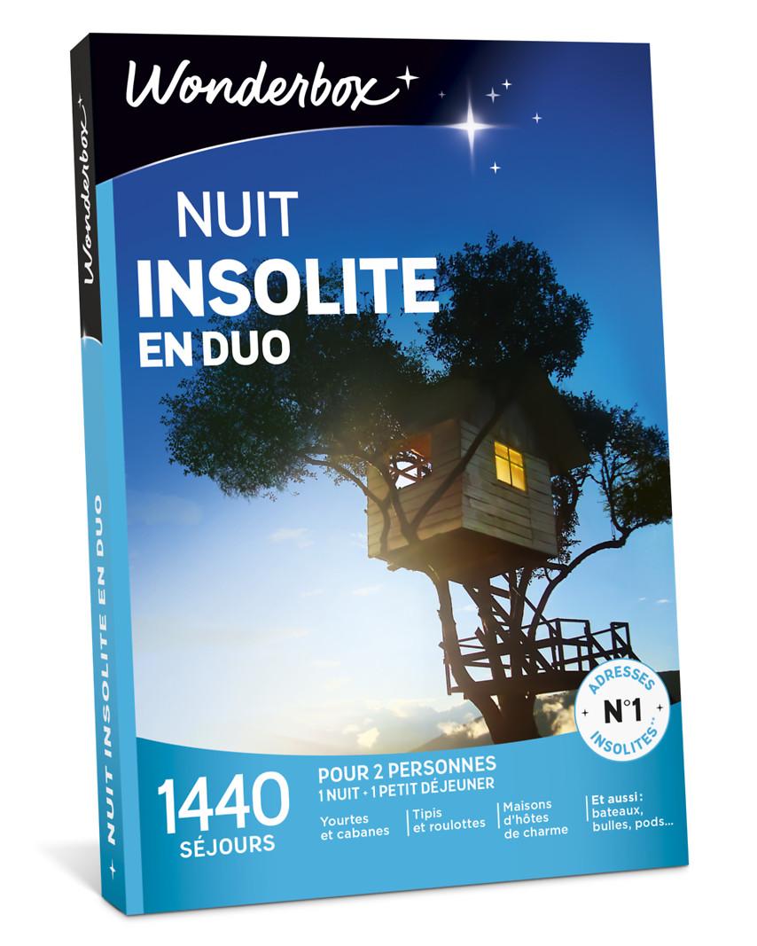 nuit insolite en duo coffret cadeau wonderbox. Black Bedroom Furniture Sets. Home Design Ideas