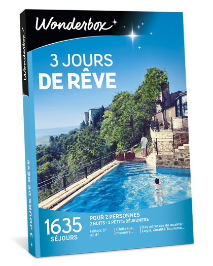 3 jours de r ve coffret cadeau wonderbox for Hotel de reve france