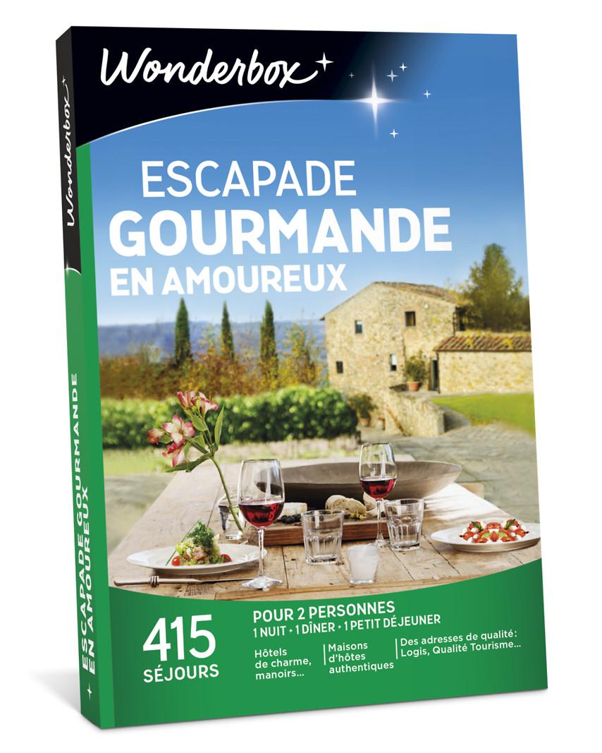 escapade gourmande en amoureux coffret cadeau wonderbox. Black Bedroom Furniture Sets. Home Design Ideas