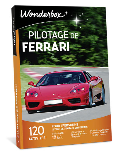 coffret cadeau pilotage de ferrari wonderbox. Black Bedroom Furniture Sets. Home Design Ideas