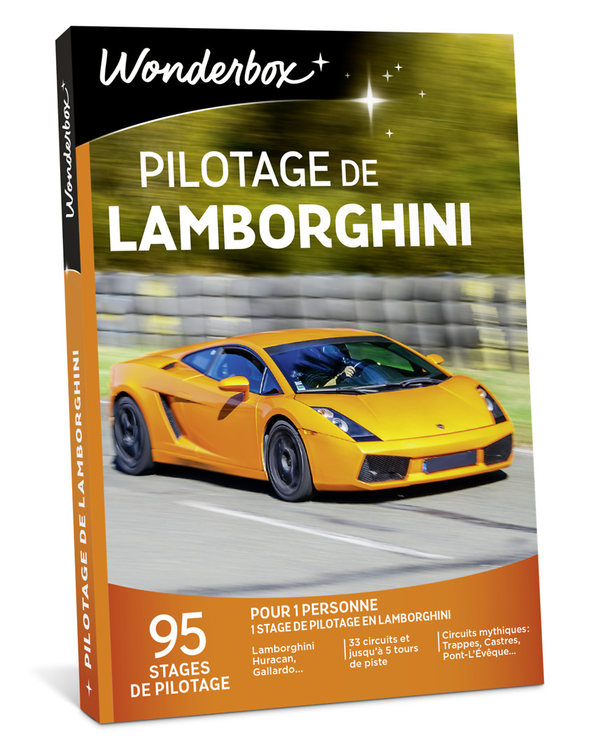 coffret cadeau pilotage de lamborghini wonderbox. Black Bedroom Furniture Sets. Home Design Ideas