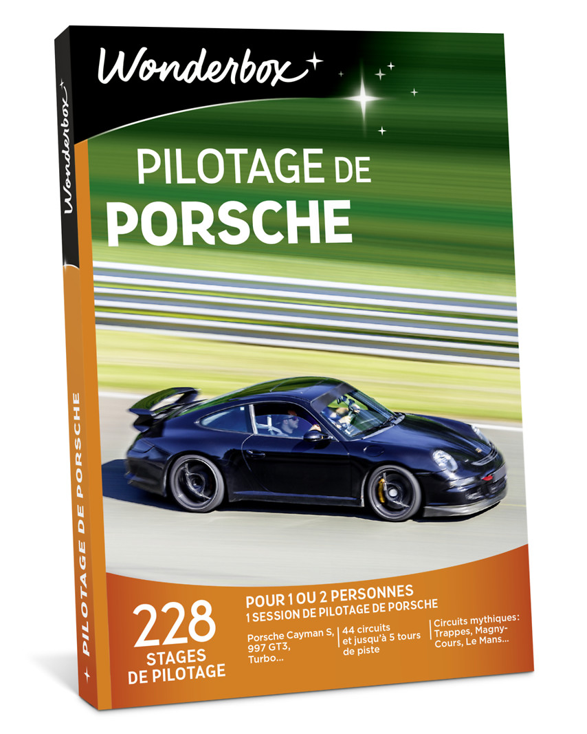 coffret cadeau pilotage de porsche wonderbox. Black Bedroom Furniture Sets. Home Design Ideas