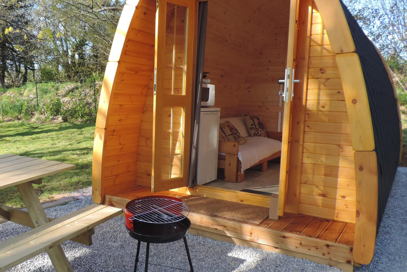 une nuit dans un pod au camping central brittany lango lan 56 wonderbox. Black Bedroom Furniture Sets. Home Design Ideas