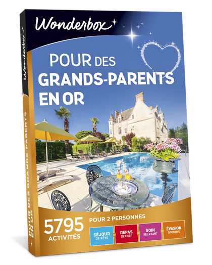 Coffret Cadeau Pour Des Grands Parents En Or Wonderbox