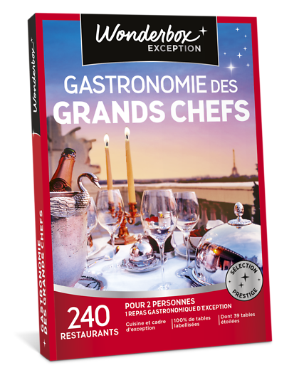 Coffret cadeau gastronomie des grands chefs wonderbox - Tables gourmandes wonderbox ...