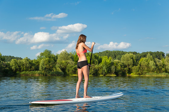 Descente en stand-up paddle pour 2 - Ceze Canoës - Goudargues (30) - photo 1