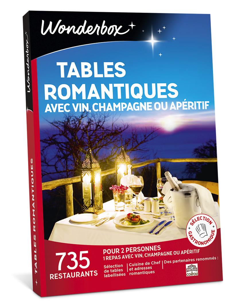 Idée Repas Pour Deux Amoureux tables romantiques avec vin, champagne ou apéritif