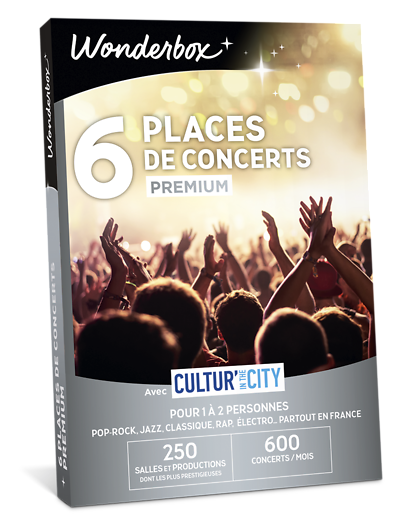 Coffret cadeau6 Places de concerts Premium - Cultur'In The City