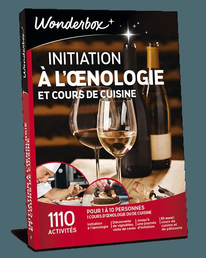Coffret initiation à l oenologie et cours de cuisine   Wonderbox 8e3f88a75f25