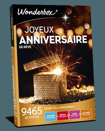 Coffret Cadeau Joyeux Anniversaire De Reve Wonderbox