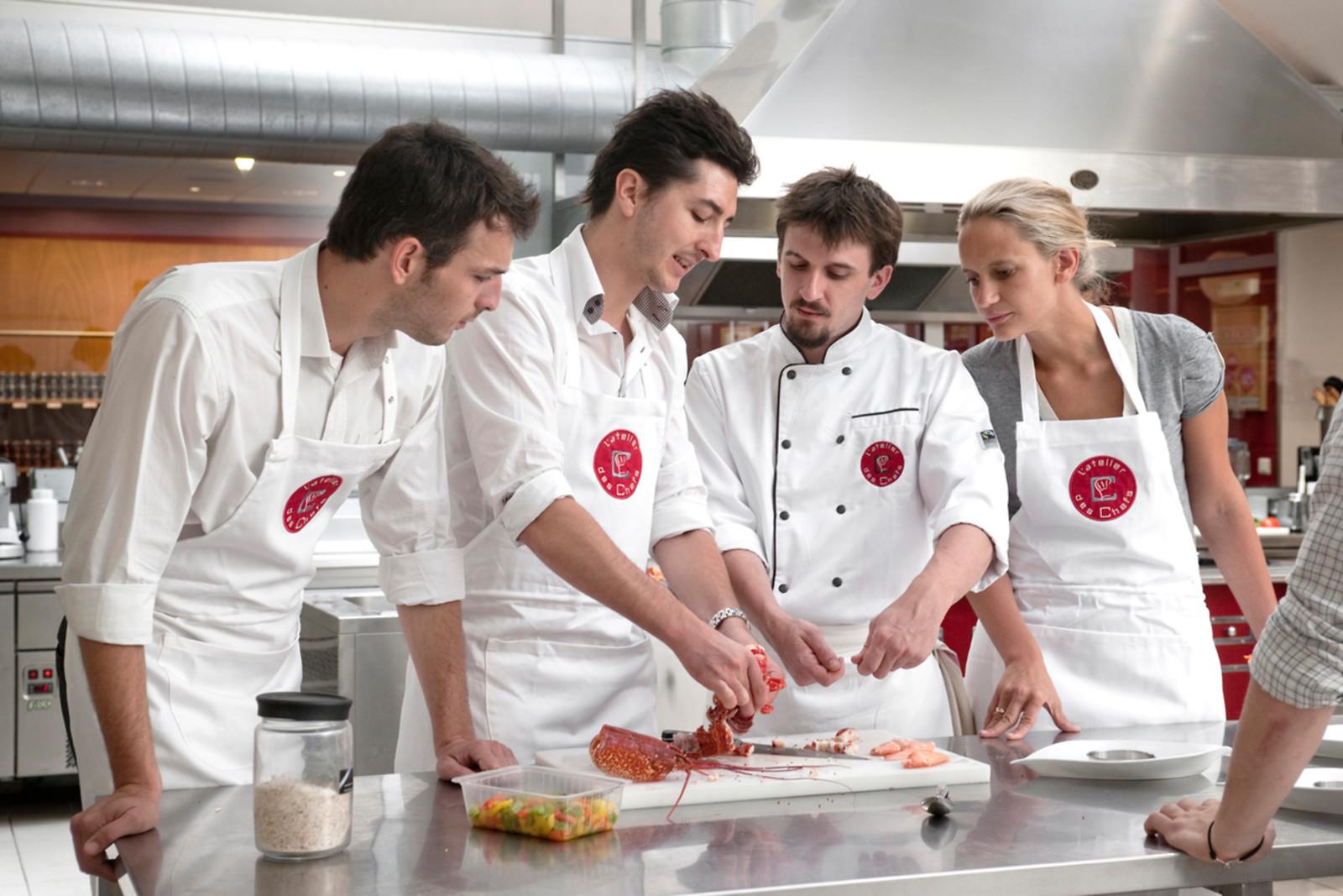 Un cours de cuisine l 39 atelier des chefs lyon 69 for Wonderbox cours de cuisine