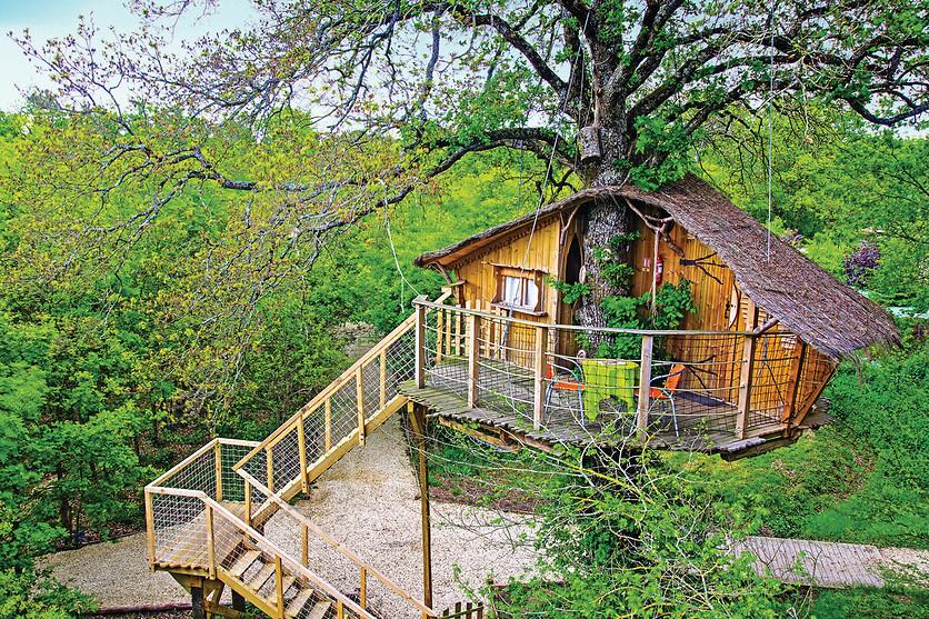 Nuit pour 2 en cabane dans les arbres d fiplanet 39 dienn 84 wonderbox - Cabane en bois dans les arbres ...