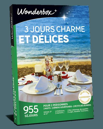Coffret Cadeau 3 Jours Charme Et Delices Wonderbox