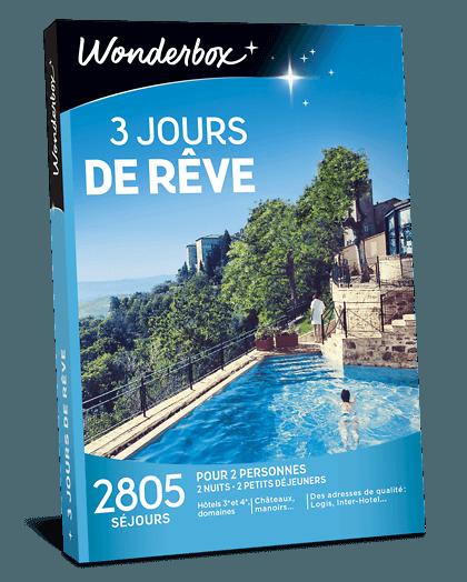 3 Jours De Reve Coffret Cadeau Wonderbox